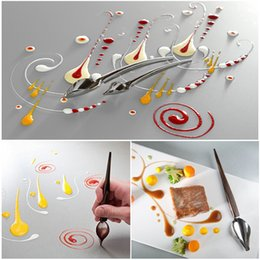 Discount pencil cake - DIY Stainless Steel Chocolate Spoon DIY Pencil Piping Spoons Cake Decoration Baking Pastry Tools Accessories Kitchen Gad