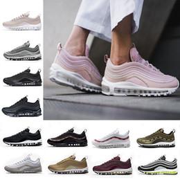 Con caja, Zapatillas chaussures nike air max 97 Og Triple white Zapatillas de running OG Metallic Gold Silver Bullet Pink de deporte para hombre mujer  Zapatillas deportivas 97 en venta