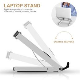 adjustable support tablet 2019 - Portable Aluminum Laptop Stand Holder Mount Adjustable Angle Notebook Stand Support Cooling Tablet Holder Folding Desk c