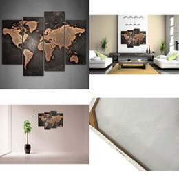 Shop art multiple canvases uk art multiple canvases free delivery 4pcs sets general world map blackhand painted modern abstract wall art oil painting home decor on canvas multiple sizes frame options 04 gumiabroncs Images