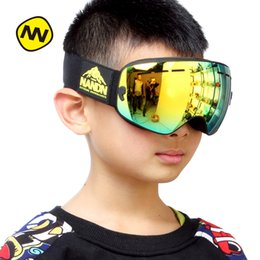 Girls Ski Goggles Australia - NANDN Children Ski Goggles Boy Girls Big Spherical Snowboard Eyewear Anti-Fog Skiing Glasses NG3 Parent Child Skiing Goggles NG9