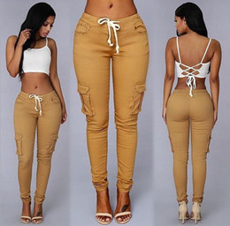 $enCountryForm.capitalKeyWord Canada - New Europe Style Casual Pants Ladies Multi-bag Pants High Elastic Leisure Trousers for Women