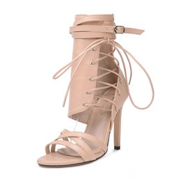 Belted Sandals Black UK - Sexy Leather Women Shoes Women Sandals Strap Belt Buckle Fashion Style Ankle Strap Summer Pump