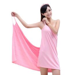 $enCountryForm.capitalKeyWord NZ - lady Beach skirt sexy magic towel bathrobes bath towels for adults Microfiber bath towel for lady