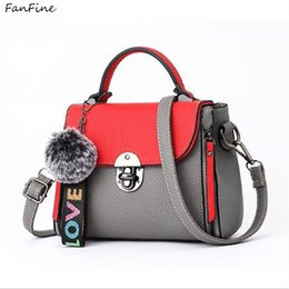 FanFine women handbags pu leather Ladies hand bags 2018 New bag crossbody shoulder  bags bolsos Fur Toy Women Messenger tote 89a71b4e76