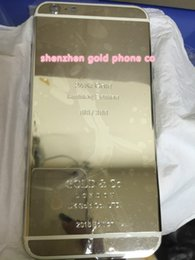 "Hot Housing Australia - 2018 hot sale platinum back for iphone6 4""7 24kt 24ct Limited Edition Golden Back Cover Back Housing for iphone6s"
