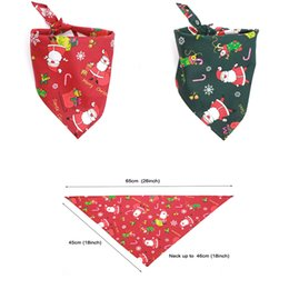 Wholesale Christmas pets scarf fashion head scarf style neckerchief pets bandanas collar scarf bow tie cotton cats dogs supplies