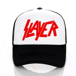 Slayer band Baseball cap Speed Metal Band hat Men Women Summer Trucker Caps  outdoor Mesh Caps 75f75382de41