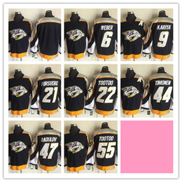 Wholesale CCM Newest Men Stitched Nashville Predators WEBER KARIYA FORSBERG TOOTOO TIMONEN RADULOV Black CCM Ice Hockey Jerseys