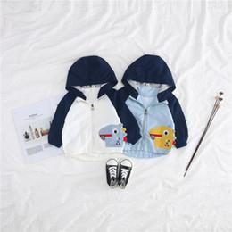 $enCountryForm.capitalKeyWord Australia - 2018 New Newborn Baby Clothing Boys Cartoon Dinosaur Jacket Children Fashion Autumn Spring Hooded Zipper Coat Outwear BY336