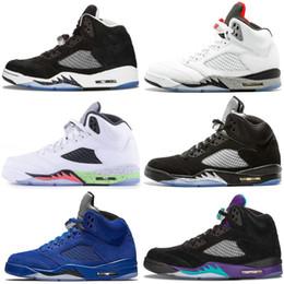best sneakers 38b9b 1a4e8 Top Quality 5 Black Metallic 3M Reflect Black Grape Oreo Chaussures de  basket Designer Hommes Plat 5S Daim CDP Blanc Ciment