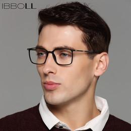 e6c607851f ibboll Mens marcos de vidrios ópticos marcos de lujo de la marca Wrap marcos  cuadrados de moda Vintage marco de anteojos hombres Oculos macho S6075
