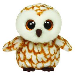 """$enCountryForm.capitalKeyWord NZ - Original 6"""" 15 cm TY Beanie Boos Swoops Brown Barn Owl Plush Stuffed Doll Toy Collectible Big Eyes Owl Dolls Toys"""