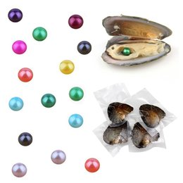 Wholesale fresh Water pearl online shopping - Round Pearl mm new color mixing big Fresh water oyster AAA high quality cheap beads Decorations Vacuum Packaging discount