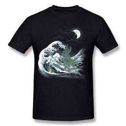 ebd75f03d1af87 New Design Man 100% Cotton Fabric The Wave of Rlyeh T-Shirts Man Round  Collar Yellow Shorts T-Shirt For Sale 3XL Party T-Shirts