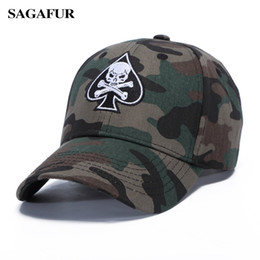 $enCountryForm.capitalKeyWord Canada - SAGAFUR Skull In Spades Shape Girls Hat Camouflage Color Baseball Hats Boy Summer New Design Outdoor Casual BOHO Male Caps