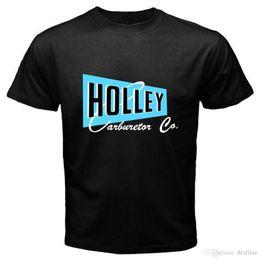 $enCountryForm.capitalKeyWord Canada - New Holley Carburetor Co. Logo Speed Equipment Hot Rod Black T-Shirt Size S-3XL O-Neck Short-Sleeve T Shirts