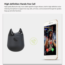 bass packs 2019 - PCTC 2pcs black wireless Bluetooth Portable cartoon mini devil speaker bass artillery loudspeaker(2black packs) cheap ba