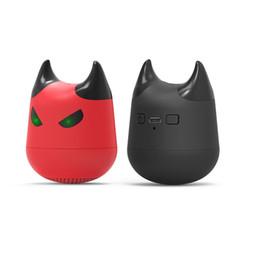 Discount bass packs - PCTC 2pcs wireless Bluetooth Portable cartoon mini red devil speaker bass artillery loudspeaker(2red packs)
