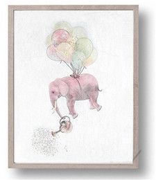 Canvas prints frame online shopping - Abstract Elephant Home Wall Art Painting High Definition Family Decor Spray Paintings Printing Wall Pictures Poster No Frame jc gg