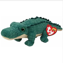 """China Ty Beanie Boos 6"""" 15cm Spike the Alligator Reptile Plush Regular Soft Stuffed Animal Collectible Doll Toy supplier plush reptile toy suppliers"""