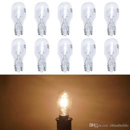 Bulb Warm Light NZ - wholesale 10pcs box Warm White Car T15 Wedge 12V 16W Halogen Bulb External Halogen Lamp Replacement Dashboard Bulb Light #1310