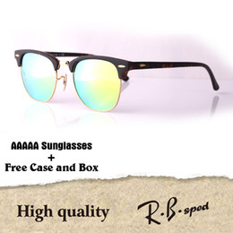 57941a879a AAAAA+ Top quality Glass lens Brand Designer sunglasses men women Plank  frame Metal hinge Sport Vintage sun glasses With free cases and box
