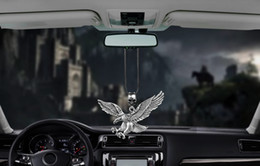 Wholesale punk dolls for sale – custom Metal Vintage Punk Eagle Car Interior Decoration Pendant Auto Rearview Mirror Charms Hawk Decor Hanging Ornaments Accessories