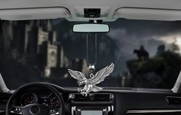 Wholesale Metal Vintage Punk Eagle Car Interior Decoration Pendant Auto Rearview Mirror Charms Hawk Decor Hanging Ornaments Accessories