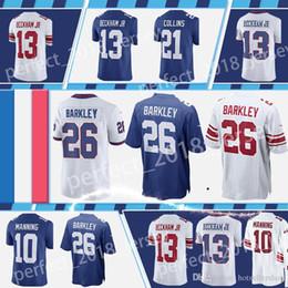 09ac18e07 saquon barkley jersey football jerseys 26 Saquon Barkley 13 Odell Beckham Jr  10 Eli Manning 21 Landon Collins 15 Brandon Marshall top sale