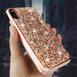 $enCountryForm.capitalKeyWord NZ - 2018 Luxury Premium bling 2 in 1 Luxury Diamond Rhinestone Glitter Cell Phone Case For iPhone XS MAX XR X 8 7 6 Plus Samsung S9 plus Note 9
