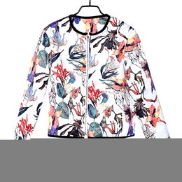 floral jacket wholesale NZ - 2018 Coats Wonderful 1PC Women Women Floral Printed Embroidery Soft Coat Short Jacket Long Sleeve Outwear Drop Shipping Apr 23