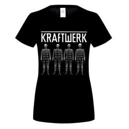 Pop Tees Australia - KRAFTWERK BAND ELECTRONIC ART POP MUSIC GERwoman T-Shirt Stranger Things Print T Original Tee Hipster O-Neck