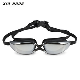 anti uv goggles Australia - XINHANG XH9200 HD Plating Anti-fog UV Swimming Goggles BSCI certificated silicone swimming glasses custom swimming goggle