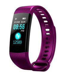 Fitbit red online shopping - New Fitbit Smart Wristband Color Screen Fitness tracker Bracelet Watch Heart Rate Monitor IP67 Waterproof Smart Ring band For IOS Andriod