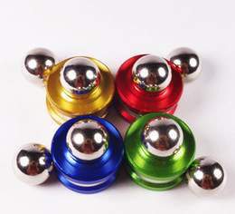$enCountryForm.capitalKeyWord Australia - Magnetic Fidget Orbiter Spinner with 2 Steel Balls Neodymium Magnets 4 Colors SUS Hand Spinner EDC Novelty Fidget Spinner Decompression Toys