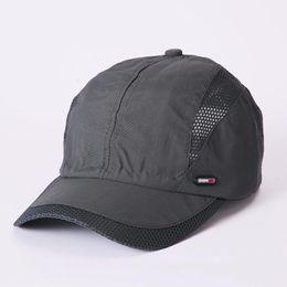 3ec18eb920e Mesh Hat Quick-Dry Collapsible Sun Hat Outdoor Sunscreen Baseball Cap Men  or Women Sport tennis caps 0810
