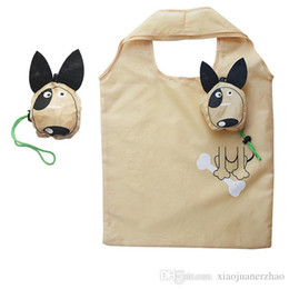 Dog Shopping Bag NZ - New Animals Cute Dog Useful Nylon Foldable Folding Eco Reusable Shopping Bags Travel Shoulder Bag