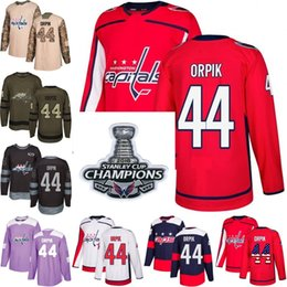 2018 Stanley Cup Champions 44 brooks orpik washington capitals Green red  USA Flag Purple Fights Cancer Practice Camo Veterans Day Jerseys 7ba8361d6