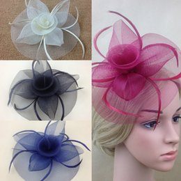 Wholesale Lady Elegant Fascinator Hat Clips Hairpins Hair Accessories Wedding Party Church KH78