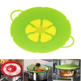 Silicone For Kitchen NZ - Silicone Lid Spill Stopper Silicone Cover Lid For Pan Cooking Tools Flower Cookware Parts Kitchen Tools