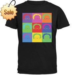 Best Men Hair Australia - 2018 Streetwear Short Sleeve Tees Election Bernie Sanders Hair Minimalist Pop Art Black Youth T-Shirt 2018 Best T Shirts