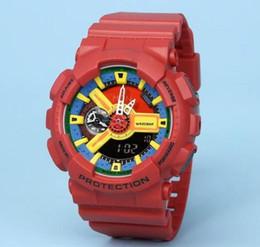 05ba86fa0b0 Vermelho masculino china novo à prova d  água barato Doce de quartzo  crianças plástico G LED Natação GA-110 esporte Camuflagem relógios Clássico  S Choque ...