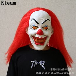 Discount new clown masks - 2018 NEW Joker Clown Costume Mask Creepy Evil Scary Halloween Clown Mask Adult Ghost Festive Party Supplies Decoration t