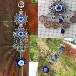 Discount natural stone amulets - Shellhard Lucky Turkish Blue Evil Eye Amulet Decoration Trendy Charms Hanging Pendants Car Office Home Decor 25cm