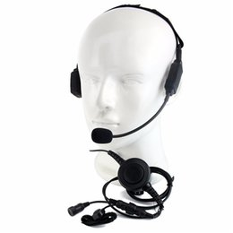 tactical headsets ptt 2018 - Finger PTT MIC Conduction Tactical Headphone Headset for Walkie Talkie for ICOM V8 F3 F4S Vertex VX-510 Radio C2216 chea