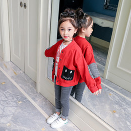 Jackets For Teens Canada - Abesay Autumn Children's Jackets For Girls Solid Child Girls Jacket Pocket Girls Coat Winter Teen Clothing For Girl 6 8 12 Years