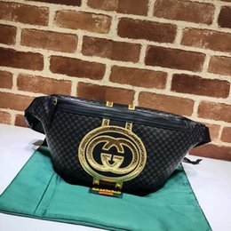 $enCountryForm.capitalKeyWord NZ - Top Quality men awomen waist bag fashion hot sale letter real leather chest bags for men waistpacks 28*18*8cm 536416
