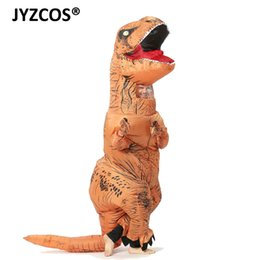 Christmas Jumpsuit Costumes NZ - inosaur costume JYZCOS Inflatable TREX Costume Adult Kids Dinosaur for Men Women T Rex Jumpsuit Party Halloween Cosplay Blowup Disfraces ...
