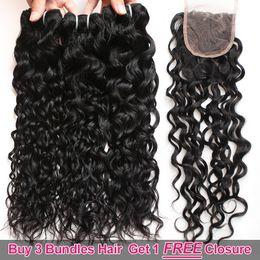 Big wave weaves online shopping - Ishow Hair Big Sales Promotion Buy Bundles Get A Free Closure Brazilian Water Wave Unprocessed Peruvian Human Hair Free Part
